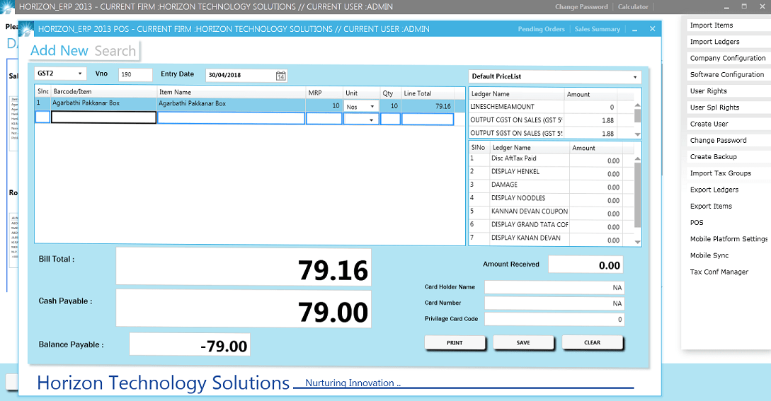 GST-Billing-Software for small Distribution,Retail and Manufacturing